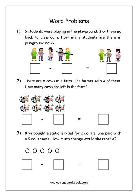 addition and subtraction word problems worksheets for
