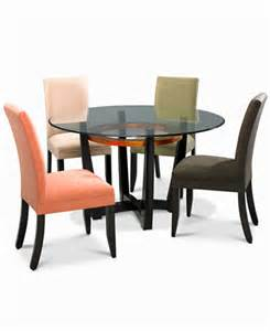 cappuccino dining room furniture round 5 piece set table
