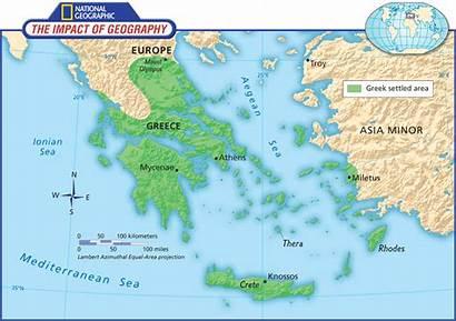 Greece Ancient Map Greek Maps Social Studies