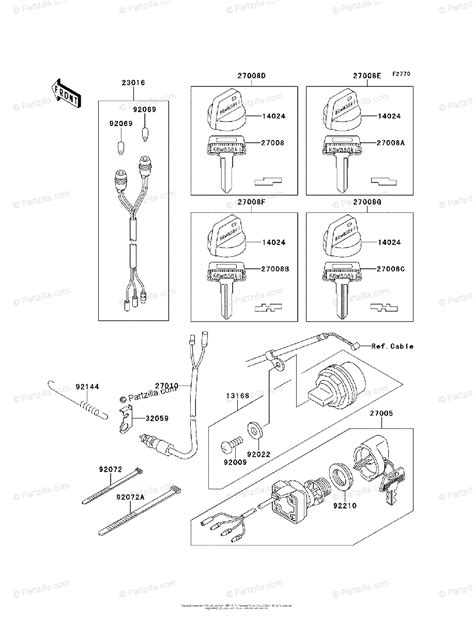 kawasaki atv 1997 oem parts diagram for ignition switch partzilla