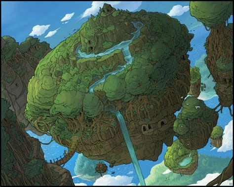 floating islands  karbo  deviantart