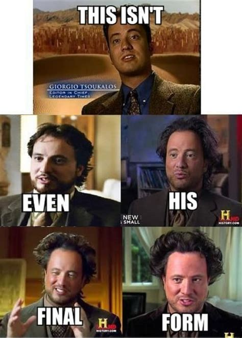 Giorgio Tsoukalos Memes - hang on is this an actual flying saucer being towed out of area 51