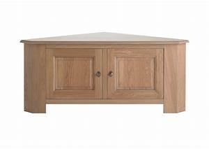 Meuble En Angle : acheter votre meuble t l d 39 angle en ch ne naturel avec 2 ~ Edinachiropracticcenter.com Idées de Décoration