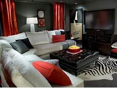 Keys To View More Living Rooms Swipe Photo To View More Living Rooms Yellow Monochromatic White Basement Color With Throw Pillow End Basement Living Room Ideas Is One Of Of Trendy Basement Living Room Basement Makeover Ideas From Candice Olson Decorating And Design