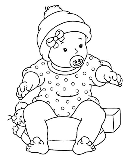 baby coloring pages getcoloringpagescom