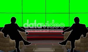 Simple TV Wall Virtual Set | Datavideo Virtualset