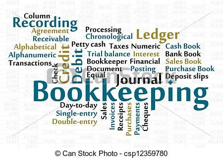 bookkeeping word cloud  data sheet background