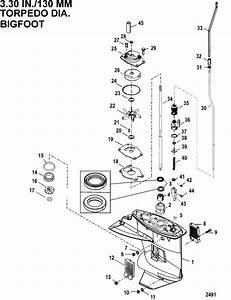 Gear Housing Driveshaft 2 42 1 Gear Ratio For Mariner    Mercury 9 9  13 5  15 4 9 9