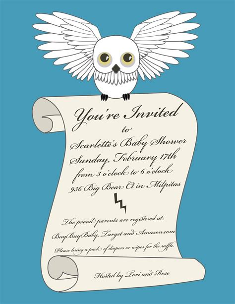 Harry Potter Baby Shower Invitations - notoriousstar designs harry potter baby shower invitation