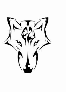 Angry Wolf Head Outline