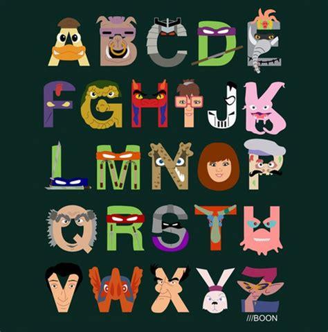 harry potter tmnt simpsons  pixar alphabets geekologie