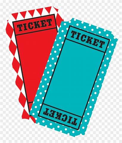 Ticket Carnival Clip Clipart Tickets Transparent