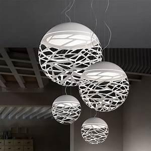 Luminaire Suspension Design Italien : kelly sphere lampe design suspension en m tal ~ Carolinahurricanesstore.com Idées de Décoration