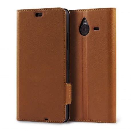 mozo etui 224 rabat lat 233 ral mozo lumia flip cuir marron pour microsoft lumia 640xl