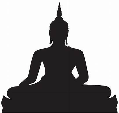 Buddha Silhouette Clip Clipart Transparent Thai Vector