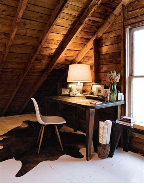 Rustic Bedroom Decor by 30 Cozy Attic Home Office Design Ideas