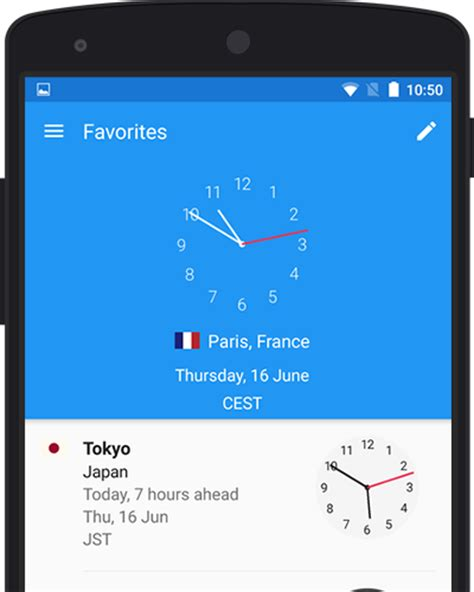 world clock app  android