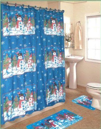 32 best christmas shower curtain set images on pinterest