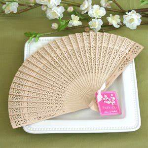 amazoncom sandalwood fan in glass top white box baby With fans for wedding favors