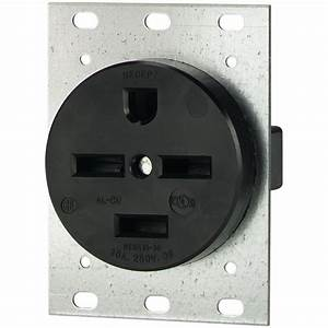 Eaton 30 Amp 250-volt 15-30 3-pole  4-wire Power Receptacle-8430n