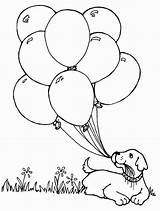 Coloring Balloon Printable sketch template