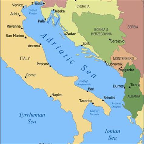 Italien Karte Adria