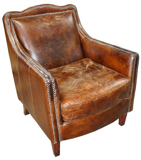 leather chair 27 quot wide arm chair vintage brown cigar