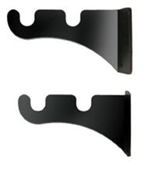 amazon com small double curtain rod brackets pair