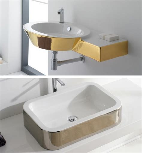 Colored Bathroom Fixtures by Gold Colored Bathroom Fixtures By Scarabeo