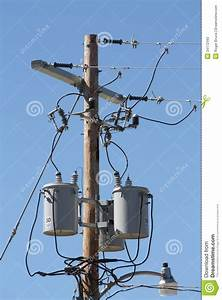 Three Phase Transformer Bank Stock Photo