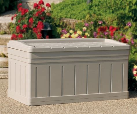 new 129 gallon deck outdoor patio pool storage box with