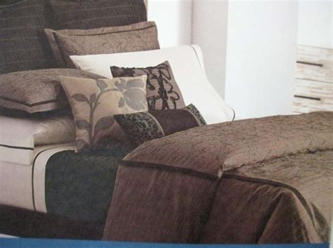 vera wang tea garden brown king comforter set ebay