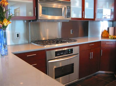 Metal Kitchen Backsplash Ideas : Stainless Steel Solution For Your Kitchen Backsplash