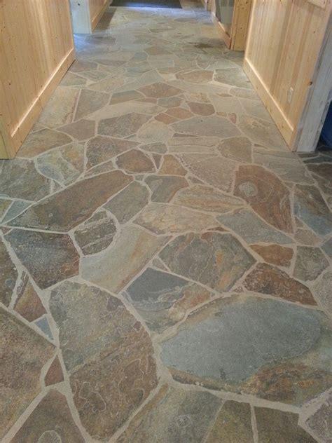 Kitchen Floor Flagstone Tiles by Fabrication Installation Scrivanich