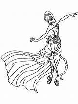 Winx Tecna Colorear Dibujos Imprimir Gratis sketch template