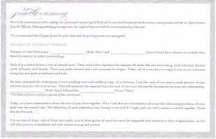 vow renewal ceremony program unity sand ceremony wording exles party invitations ideas