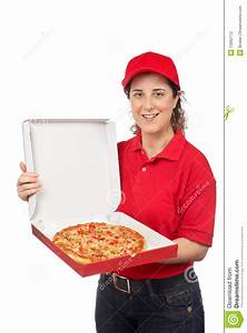 Pizza delivery woman stock photo. Image of consumer ...