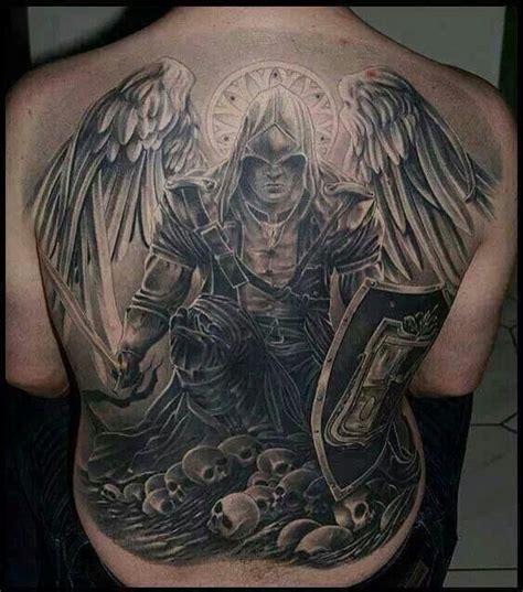 piece tattoo angel  death wings skull tusch