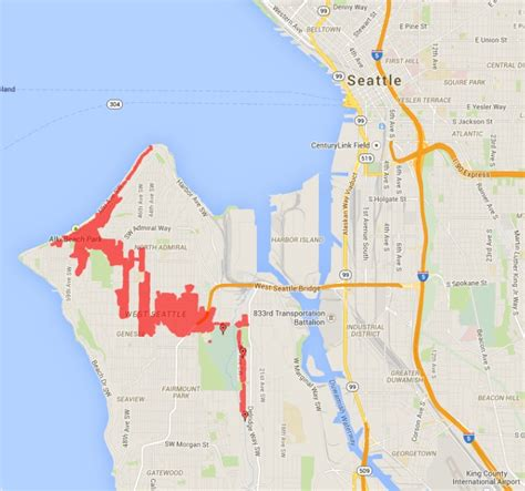 seattle city light power outage map power outage leaves 4 000 in the in west seattle
