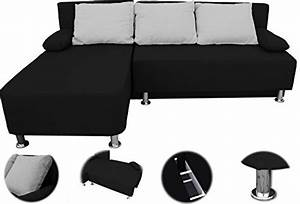 Ecksofa Mit Schlaffunktion Günstig Kaufen : onux ecksofa couch mit schlaffunktion schwarz ~ Pilothousefishingboats.com Haus und Dekorationen
