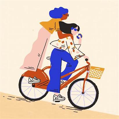 Illustration Lossing Abbey Bike Party Behance