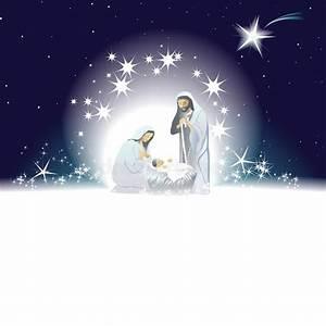 Nativity Scene With Holy Family Stock Vector ...