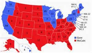 2000 Electoral College Map