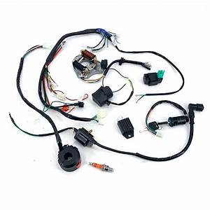Full Electric Wiring Harness Cdi Coil Fit 50 70 90 110cc