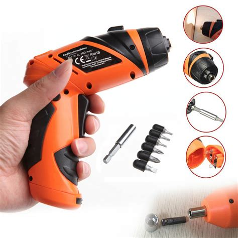 portable screwdriver electric drill battery operated