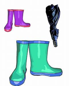 Rain Boots & Umbrella Clip Art Free Stock Photo - Public ...