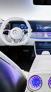 Wallpaper Mercedes-Benz IAA, concept car, interior, silver