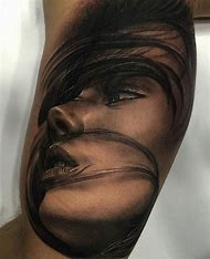 Beautiful Woman's Face Tattoo
