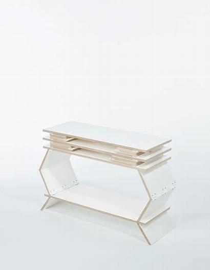 Foldable Stockwerk Bookcase Milk Bookshelf Hoeller Johannes