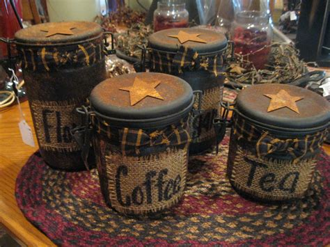 primitive kitchen canisters canisters primitive country treasures